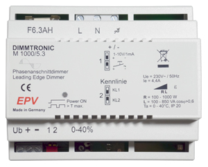 MASTER M1000/5.3 fase aansnijdimmer EPV Electronics